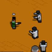 Майнкрафт стрілялка зомбі: Квадратні голови
