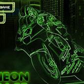 Неонові гонки на мотоциклах