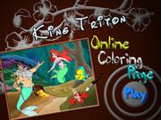 Король Тритон розмальовка