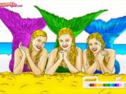 Розмальовки з русалками