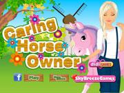 Тварини: турботливий власник конячки