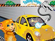 Прибирання: кіт миє машину