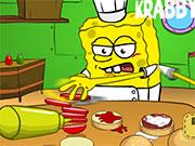 Спанч-Боб готує їжу