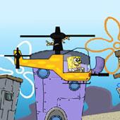Спанч Боб гонки на вертольоті