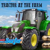 Гонки на тракторах на фермі