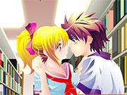 Анімешні поцілунки в бібліотеці