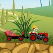 Гонки на тракторах з поросятами