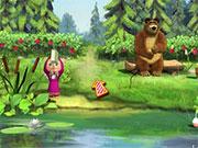 Маша і ведмідь рибалка