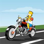 Сімпсони: Барт Катається на Мотоциклі