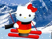 Хелло Кітті на лижах