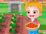 Хейзел на фермі з томатами
