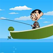 Містер Бін на риболовлі