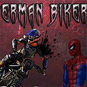 Людина павук на мотоциклі