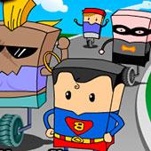 Супермен і Бетмен: одноколесные гонки
