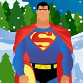 Супермен-сноубордист