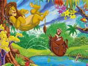 Король лев стрибок у озеро