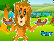 Лев їсть м'ясо