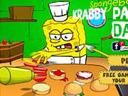 Спанч Боб готувати крабсбургеры