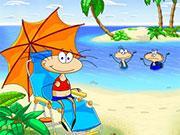 Масяня на пляжі