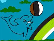 Дельфін розмальовка