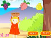 Дівчинка збирає фрукти