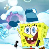 Спанч Боб катає сніжний ком