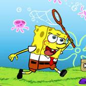 Спанч Боб бродилка з сачком за медузами