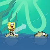 Спанч Боб бродилка: Стрибки по рибам
