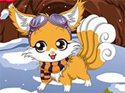 Зимова одевалка маленькою лисиці