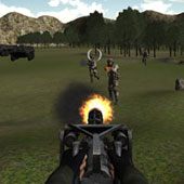 3D стрілялка: Захист фортеці на пагорбі
