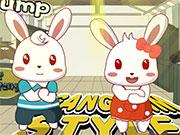 Божевільні і симпатичні кролики на двох