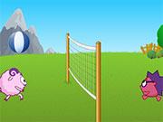 Волейбол зі смішариками на двох