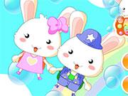Милі закохані кролики
